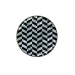CHEVRON1 BLACK MARBLE & ICE CRYSTALS Hat Clip Ball Marker