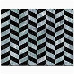 CHEVRON1 BLACK MARBLE & ICE CRYSTALS Jewelry Bags