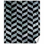 CHEVRON1 BLACK MARBLE & ICE CRYSTALS Canvas 8  x 10