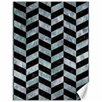 CHEVRON1 BLACK MARBLE & ICE CRYSTALS Canvas 12  x 16