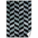 CHEVRON1 BLACK MARBLE & ICE CRYSTALS Canvas 20  x 30