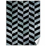 CHEVRON1 BLACK MARBLE & ICE CRYSTALS Canvas 36  x 48