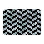 CHEVRON1 BLACK MARBLE & ICE CRYSTALS Plate Mats