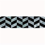 CHEVRON1 BLACK MARBLE & ICE CRYSTALS Large Bar Mats