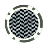 CHEVRON1 BLACK MARBLE & ICE CRYSTALS Poker Chip Card Guard