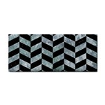 CHEVRON1 BLACK MARBLE & ICE CRYSTALS Cosmetic Storage Cases
