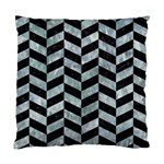 CHEVRON1 BLACK MARBLE & ICE CRYSTALS Standard Cushion Case (One Side)