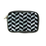CHEVRON1 BLACK MARBLE & ICE CRYSTALS Coin Purse
