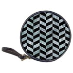 CHEVRON1 BLACK MARBLE & ICE CRYSTALS Classic 20-CD Wallets