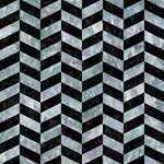 CHEVRON1 BLACK MARBLE & ICE CRYSTALS Magic Photo Cubes
