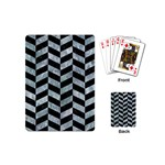 CHEVRON1 BLACK MARBLE & ICE CRYSTALS Playing Cards (Mini)