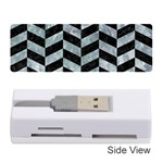 CHEVRON1 BLACK MARBLE & ICE CRYSTALS Memory Card Reader (Stick)