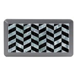 CHEVRON1 BLACK MARBLE & ICE CRYSTALS Memory Card Reader (Mini)