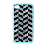 CHEVRON1 BLACK MARBLE & ICE CRYSTALS Apple iPhone 4 Case (Color)