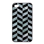 CHEVRON1 BLACK MARBLE & ICE CRYSTALS Apple iPhone 4/4s Seamless Case (Black)