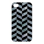 CHEVRON1 BLACK MARBLE & ICE CRYSTALS Apple iPhone 4/4S Hardshell Case