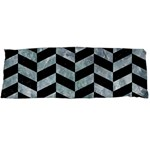 CHEVRON1 BLACK MARBLE & ICE CRYSTALS Body Pillow Case Dakimakura (Two Sides)