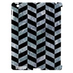 CHEVRON1 BLACK MARBLE & ICE CRYSTALS Apple iPad 3/4 Hardshell Case (Compatible with Smart Cover)