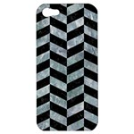 CHEVRON1 BLACK MARBLE & ICE CRYSTALS Apple iPhone 5 Hardshell Case