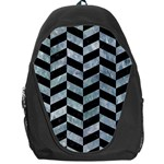 CHEVRON1 BLACK MARBLE & ICE CRYSTALS Backpack Bag