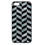CHEVRON1 BLACK MARBLE & ICE CRYSTALS Apple iPhone 5 Seamless Case (Black)