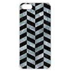 CHEVRON1 BLACK MARBLE & ICE CRYSTALS Apple iPhone 5 Seamless Case (White)