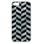 CHEVRON1 BLACK MARBLE & ICE CRYSTALS Apple Seamless iPhone 5 Case (Clear)
