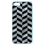 CHEVRON1 BLACK MARBLE & ICE CRYSTALS Apple Seamless iPhone 5 Case (Color)