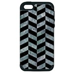 CHEVRON1 BLACK MARBLE & ICE CRYSTALS Apple iPhone 5 Hardshell Case (PC+Silicone)