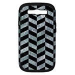 CHEVRON1 BLACK MARBLE & ICE CRYSTALS Samsung Galaxy S III Hardshell Case (PC+Silicone)