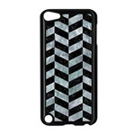 CHEVRON1 BLACK MARBLE & ICE CRYSTALS Apple iPod Touch 5 Case (Black)