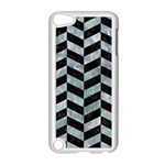 CHEVRON1 BLACK MARBLE & ICE CRYSTALS Apple iPod Touch 5 Case (White)