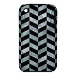 CHEVRON1 BLACK MARBLE & ICE CRYSTALS iPhone 3S/3GS