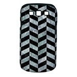 CHEVRON1 BLACK MARBLE & ICE CRYSTALS Samsung Galaxy S III Classic Hardshell Case (PC+Silicone)