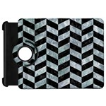 CHEVRON1 BLACK MARBLE & ICE CRYSTALS Kindle Fire HD 7