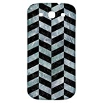 CHEVRON1 BLACK MARBLE & ICE CRYSTALS Samsung Galaxy S3 S III Classic Hardshell Back Case