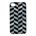 CHEVRON1 BLACK MARBLE & ICE CRYSTALS Apple iPhone 4/4S Hardshell Case with Stand