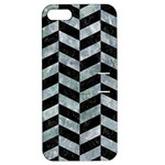 CHEVRON1 BLACK MARBLE & ICE CRYSTALS Apple iPhone 5 Hardshell Case with Stand