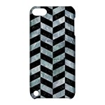 CHEVRON1 BLACK MARBLE & ICE CRYSTALS Apple iPod Touch 5 Hardshell Case with Stand