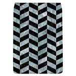CHEVRON1 BLACK MARBLE & ICE CRYSTALS Flap Covers (L)
