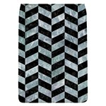 CHEVRON1 BLACK MARBLE & ICE CRYSTALS Flap Covers (S)