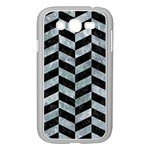 CHEVRON1 BLACK MARBLE & ICE CRYSTALS Samsung Galaxy Grand DUOS I9082 Case (White)