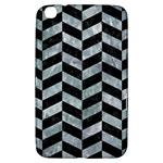 CHEVRON1 BLACK MARBLE & ICE CRYSTALS Samsung Galaxy Tab 3 (8 ) T3100 Hardshell Case