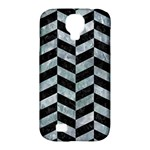 CHEVRON1 BLACK MARBLE & ICE CRYSTALS Samsung Galaxy S4 Classic Hardshell Case (PC+Silicone)