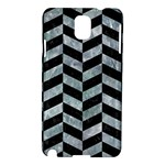 CHEVRON1 BLACK MARBLE & ICE CRYSTALS Samsung Galaxy Note 3 N9005 Hardshell Case