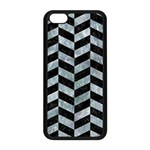 CHEVRON1 BLACK MARBLE & ICE CRYSTALS Apple iPhone 5C Seamless Case (Black)