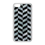 CHEVRON1 BLACK MARBLE & ICE CRYSTALS Apple iPhone 5C Seamless Case (White)