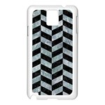 CHEVRON1 BLACK MARBLE & ICE CRYSTALS Samsung Galaxy Note 3 N9005 Case (White)