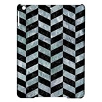 CHEVRON1 BLACK MARBLE & ICE CRYSTALS iPad Air Hardshell Cases