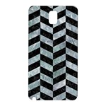 CHEVRON1 BLACK MARBLE & ICE CRYSTALS Samsung Galaxy Note 3 N9005 Hardshell Back Case
